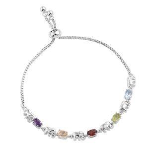 Jewelry - Multi Gemstone Elephant Bracelet#21